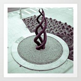Transpire sculpture Art Print