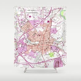 Vintage Map of Frederick Maryland (1953) Shower Curtain