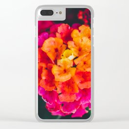 Color Pop Flower Clear iPhone Case