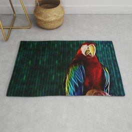 Macaw Portrait Matrix Rug