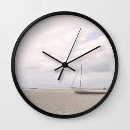 Stranded at Low Tide Wall Clock