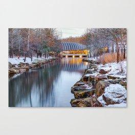Crystal Bridges Museum of American Art in Winter - Northwest Arkansas Canvas Print