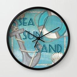 Sea and Shore 1 Wall Clock