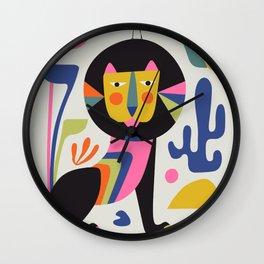 Black Lion Wall Clock