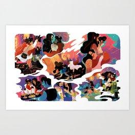 rainy date Art Print