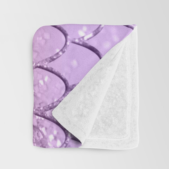 Mermaid Scales on Unicorn Girls Glitter #4 #shiny #pastel #decor #art #society6 Throw Blanket