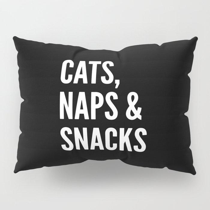 Cats, Naps & Snacks (Black) Pillow Sham
