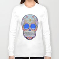 calavera Long Sleeve T-shirts featuring Calavera by Jared Bretholtz