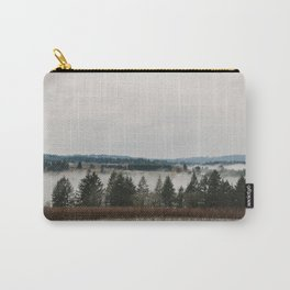 Clouds of fog amongst the trees in Willamette Valley, Oregon Carry-All Pouch
