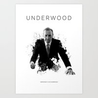 valar morghulis Art Prints featuring Certified Badass: Frank Underwood by Kooconcept
