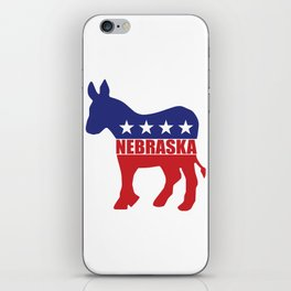Nebraska Democrat Donkey iPhone Skin