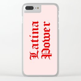 Latina Power Clear iPhone Case