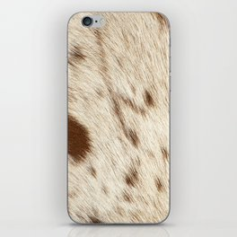 Pattern of a Longhorn bull cowhide. iPhone Skin