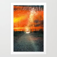 oakland Art Prints featuring Oakland Hills by manfreckles