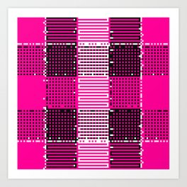 Licorice Bytes, No.14 in Black and Pink Art Print