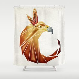eagle cercle Shower Curtain