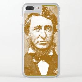 Thoreau Pillow/Thoreau Blanket/Thoreau Rug Clear iPhone Case