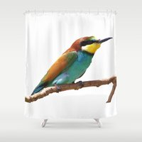 soul eater Shower Curtains featuring Bee Eater by Cs025