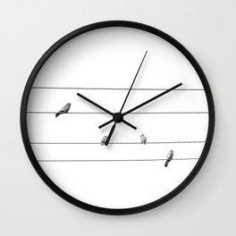 Four Little Birds Wall Clock