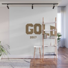 Go Gold Wall Mural