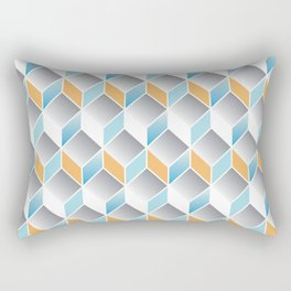 cubic pattern - geometric 3d design -seamless Rectangular Pillow