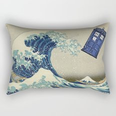 The Great Wave Doctor Who Rectangular Pillow