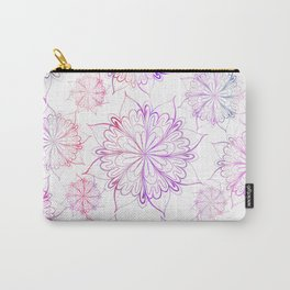 Hand painted pink lilac watercolor floral mandala Carry-All Pouch