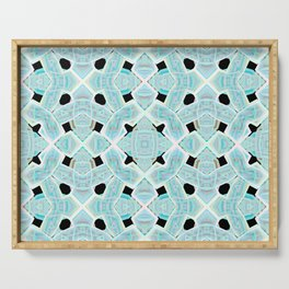 Neon Tile Pattern Serving Tray