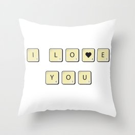 Love scrabble Throw Pillow
