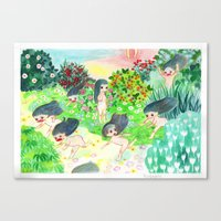 psychedelic Canvas Prints featuring Psychedelic by Risahhh