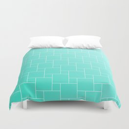 MINT BRICKS Duvet Cover