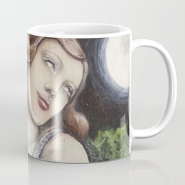 The Seeker // Goddess Woman Witch Priestess Tarot Crystal Magick Moon Divination Psychic Intuition Coffee Mug