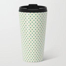 the green dot on light beige Travel Mug