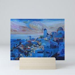 Santorini Oia Panoroma Mini Art Print