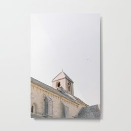 Sénanque Abbey shot in the afternoon with bird flying over in Gordes, Provence Metal Print