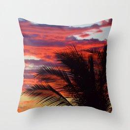pomegranate sunset Throw Pillow