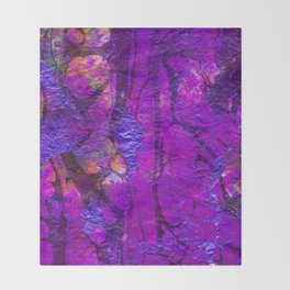 purple pink velvet Throw Blanket