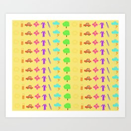 Childish Rainbow Art Print