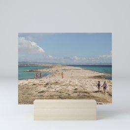 Ses Salinas, Formentera- travel photography- Top beach Mini Art Print