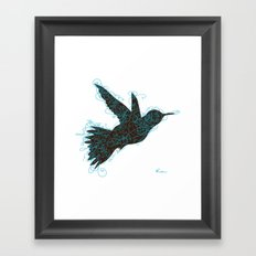Bird Fly No. 1 (Black/Aqua) Framed Art Print