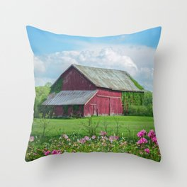 The Red Barn Throw Pillow