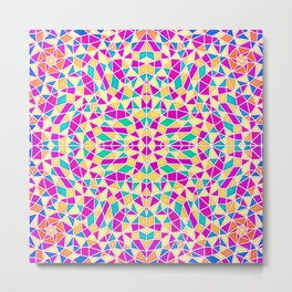 Geometric Multi Color Kaleidoscope Metal Print