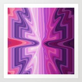 Purple & Pink All Over Art Print