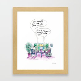 Uh…That's Not What That Means Grandma Framed Art Print