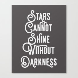 Stars Typography Print Canvas Print