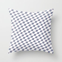 USAF style roundel star pattern Throw Pillow
