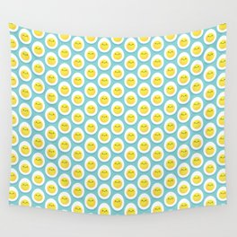 Cute hard boiled eggs Wall Tapestry
