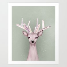 Crystal Deer Art Print