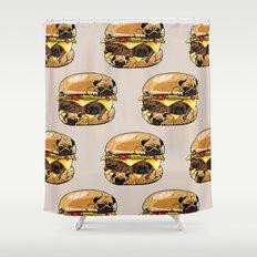 Pugs Burger Shower Curtain