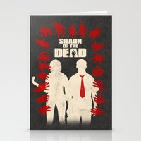 shaun of the dead Stationery Cards featuring Shaun Of The Dead by Bill Pyle